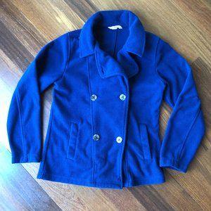 Lands' End Girl's 10-12 Fleece Pea Coat Jacket